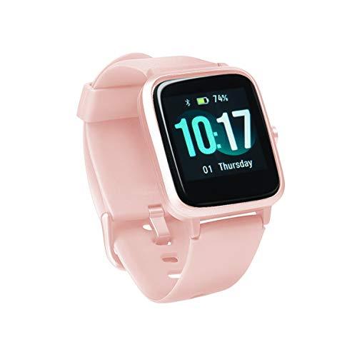 Sami - Aqua XL - Smartwatch, Smartband, Pulsera de Actividad. para Android y Apple. Función relajamiento para Practicar Yoga, GPS, Waterproof, presión sanguínea, Fuerza G, Multideportivo. Rosa