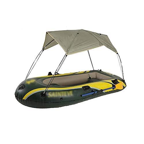 BZLLW Aufblasbares Kajak, 3-Person Ausflug aufblasbares Kajak-Set mit Sonnenschirm, Angler und Erholungs Sit on Top Light Weight Fischerboot Insel Voyage