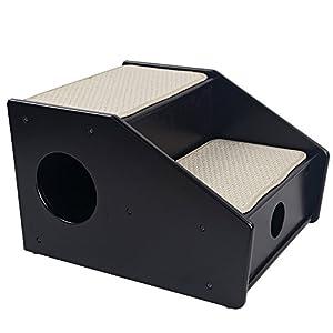 Petsfit 2-Steps Dog Stairs,Nearly Black (21x17x14 inch)