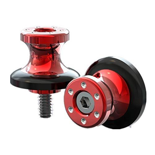Motorrad Swingarm Sliders Spulen Swingarm Spulen Slider Motorrad Ständer Schraube Universal Motorrad Swingarm Spule Slider 6mm (Color : Red)
