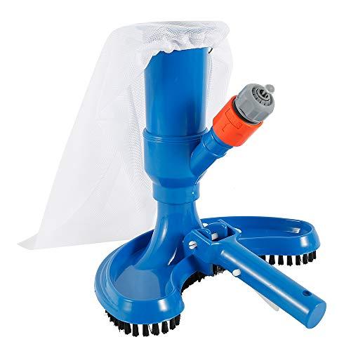 Mini aspirador para piscina, cepillo aspirador portátil con accesorios para la instalación, utilizado para limpiar fuentes de piscinas y termales (excepto palo telescópico) azul (1 unidad)
