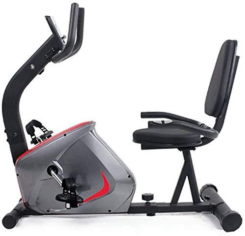 YUKM Bicicleta de Ejercicio Interior, Equipo de Ejercicio para el hogar, Entrenamiento de Bicicletas, Entrenamiento de piernas, Volante de 5.5 kg, Respaldo Ajustable