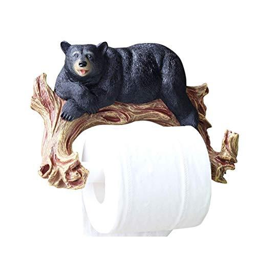ZJN-JN Sostenedor del Tejido de para el baño Cuarto de baño Toalla de Papel Titular de Papel higiénico Titular Portarrollos de Papel higiénico Titular de la Sala de Estar colgado Pared (Color: Negro,