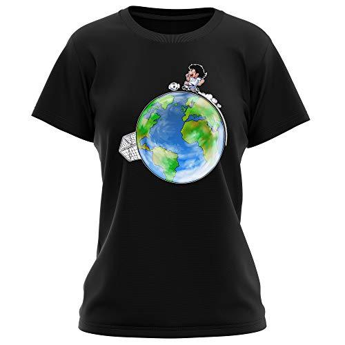 T-Shirt Femme Noir Olive et Tom - Captain Tsubasa parodique Olivier Atone : Le Plus Grand Terrain de Foot du Monde : (Version Collector) (Parodie Olive et Tom - Captain Tsubasa)