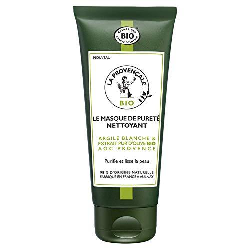 La Provençale – Le Masque de Pureté Nettoyant – Soin Visage Certifié Bio – Huile d'Olive Bio AOC Provence – Pour Tous Types de Peaux, Même Sensibles – 100 ml