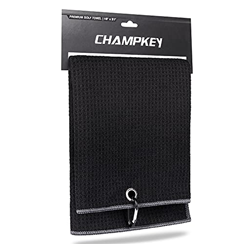 """Champkey 16"""" x 21"""" Premium Tri-Fold Waffle Golf Towels 