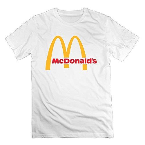 FlandFT Uomo McDonald's Logo Classica Manica Corta T-Shirt