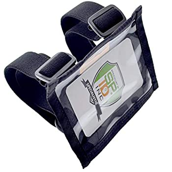 Specialist ID Ultimate Military Armband ID Badge Holder - Heavy Duty Nylon I.D Card Holder with Two Adjustable Elastic Bands - Made in The USA  Black