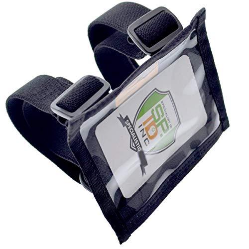 ID brassard pour identification Bleu x 2 brassard transparent pour badge de securit/é carte didentit/é Orifice en nylon support avec bandes /élastiques r/églables fabriqu/é