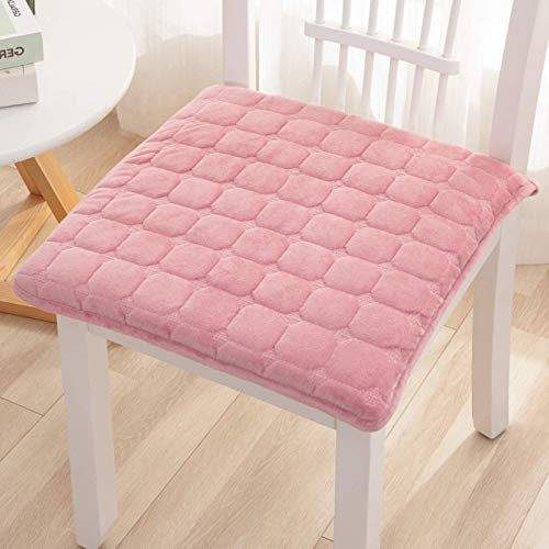 XHNXHN Kitchen Dining Chair Cushions With Ties,Square Seat Cushion Indoor Outdoor Garden Patio Furniture Breathable Food Non Slip Chair Pads-Pink 23x35cm(9x14In)