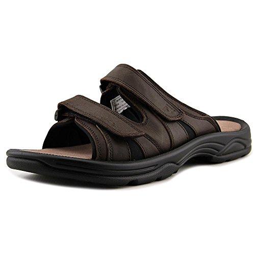 Propet Men's Vero Slide Sandal, Brown, 12 X-Wide