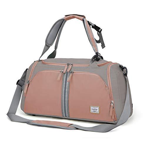 Wind Took 40L Bolsa de Deporte Mujer Bolsa Viaje Mujer Bolsas de Gimnasia con Compartimento para Zapatos Impermeable Bolsa de...