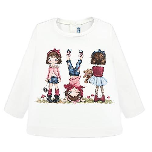 Mayoral Camiseta Manga Larga serigrafia Bebe niña Modelo 2010