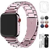 Fullmosa Für Apple Watch Armband Series 6 38mm/40mm/41mm Damen, Rostfreier Edelstahl Ersatzband...