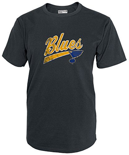 NHL St. Louis Blues Mens National Hockey League Short sleeve Tee, CHARCOAL, Large