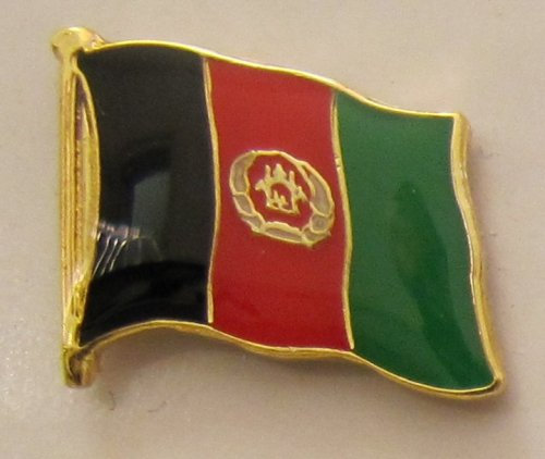 Buddel-Bini Versand Afghanistan Pin Anstecker Flagge Fahne Nationalflagge Flaggenpin Badge Button Flaggen Clip Anstecknadel