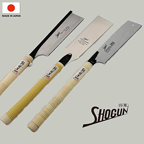Set mit 3 japanischen Classic Shogun Sägen Tischlersäge Kataba Dozuki Ryoba
