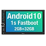 Vanku Double Din Android 10 Car Stereo with GPS Navigation, WiFi, Fast Boot, Support Android Auto, Backup Camera, OBD2, USB SD, 7 Inch Touch Screen