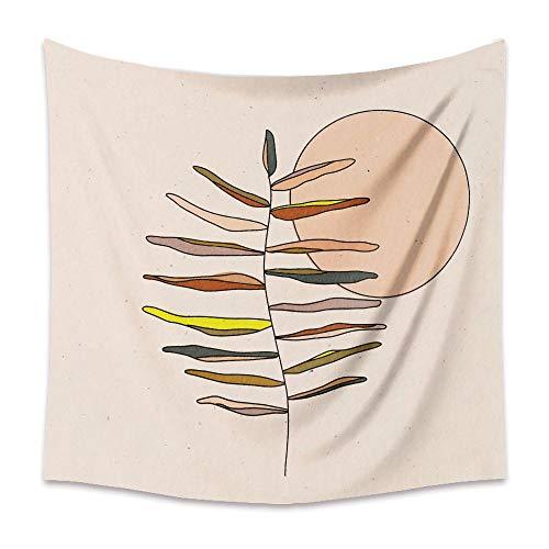 KHKJ Tapiz de Luna Retro Mandala Tarot Card Tapiz de Pared Boho Montaña Tapices para Colgar en la Pared Dormitorio Dormitorio Roomn Decoración de Pared A5 150x130cm