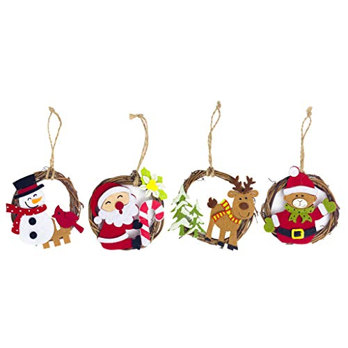 SM SunniMix 4pcs Pendentif Noël Sapin de Noël Objets Decoration