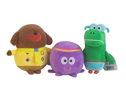 Hey Duggee Small Plush 7 inches bundle with Betty Octopus and Happy Crocodile