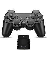 PS2 用 ワイヤレスコントローラー DUAL SHOCK2 ゲームパット 互換対応 日本語説明書 付き(黑)
