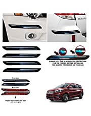 BUY HAPPYAMMY SHOP Rubber Car Bumper Protector Guard with Double Chrome Strip for Car 4Pcs - Black (for Maruti Suzuki ERTIGA)