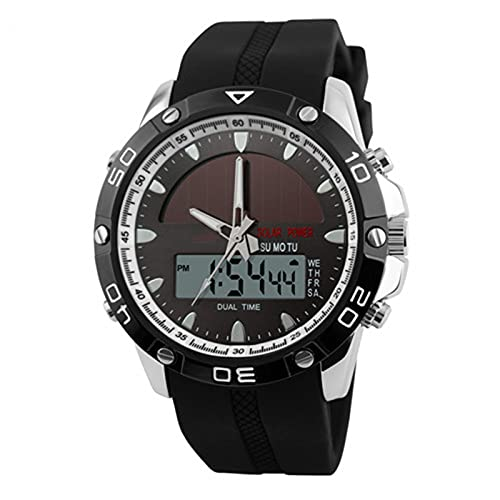 LJSF Relojes Deportivos Militares para Hombre,Resistente al Agua para Exteriores Digital Relojes con Formato 12/24 Horas, Compatible con Pantalla de Doble Zona Horaria Cronómetro Alarma,Set3