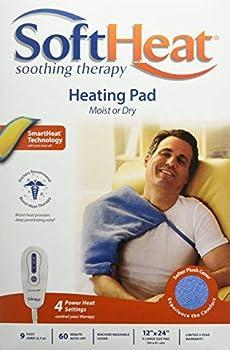 MaxHeat by SoftHeat Heating Pad Moist/Dry 12-Inch by 24-Inch