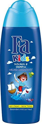 Fa Kids Duschgel & Shampoo Kids Pirat Wilder Meeresduft, 250 milliliter