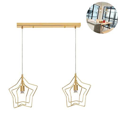 Juan mooie lampen/spinnen led sterren dubbele kop draaibaar gouden lichten oorbellen voor kinderen slaapkamer keuken woonkamer