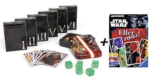 Krieg der Sterne Star Wars Spielkarten Collector's Set + Elfer Raus! Kartenspiel