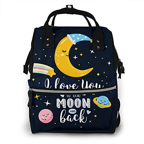 of baby lovess baby bags for moms I Love You To The Moon And Back Baby Diaper Bag Waterproof Multi-Function Daily Mummy Backpack Nappy Nursing Baby Bags Gifts Tote Bag For Mom And Dad
