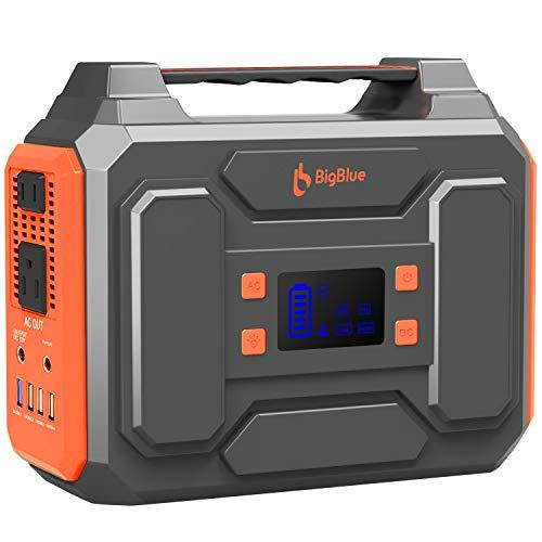 ポータブル電源 大容量 250 BigBlue 67500mAH/250Wh 蓄電池 小型軽量 家庭アウトドア両用 PSE認証済 正弦波 三つの充電方法 AC(200W 瞬間最大400W)/DC/USB出力 急速充電 LEDライト付 車中泊 キャンプ アウ