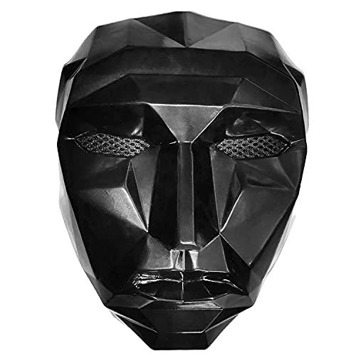 ZLXH Squid Game Máscara, Hombre Administrador de Juegos Máscara Accesorios de Cosplay Disfraz de Accesorios de Disfraces de Halloween