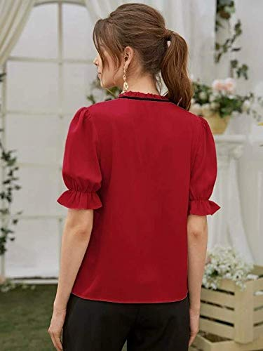 J B Fashion Plain Women Top with Half Sleeves for Women top,Stylish top, Casual Wear Top for Women/Girls Top (Red, Medium)(D-418-M)