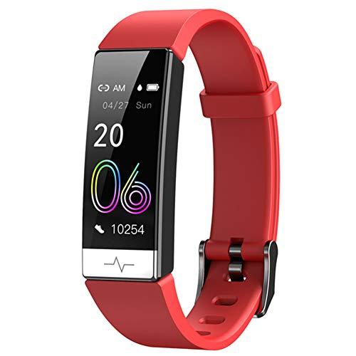 YSSSZ Actividad Tracker Reloj De Fitness Inteligente Smartwatch Pulsera Deporte con Deporte Podómetro Recordatorios De Mensaje Blood Pressure Pulsómetro para Mujer Hombre Niños,Rojo