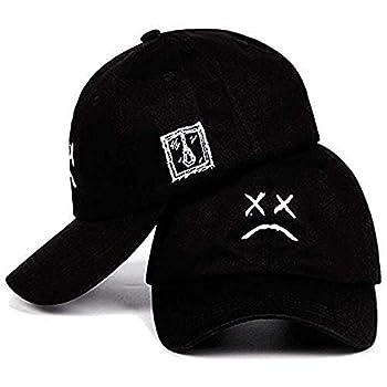 Home Fashion DIY Sad Boys Adjustable Hat Crying Face Embroidery Baseball Cap Dad Hat Hip Hop Cap Black