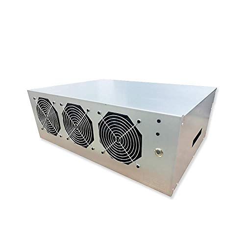 BsCom Complete Mining Rig ETH Miner System for Mining Ethereum Coin with Windows 10 ,Mining Motherboard 8GPU Including CPU,SSD, RAM,PSU, Mining Case and Cooling Fans