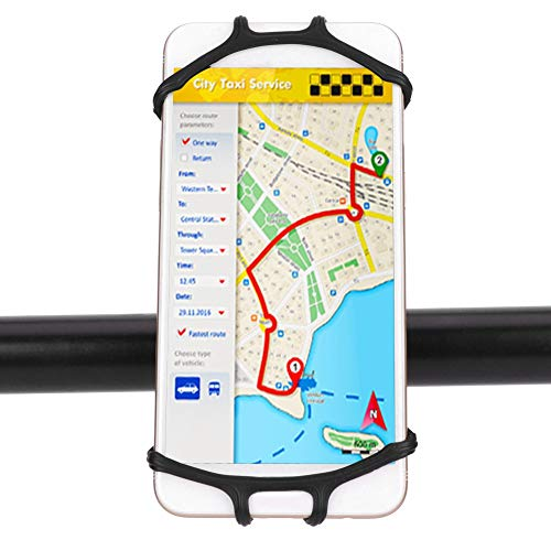 OKAT Soporte para teléfono móvil para Motocicleta, Soporte para teléfono Inteligente de Silicona Tipos y tamaños de Bicicletas y Scooters para Bicicletas y