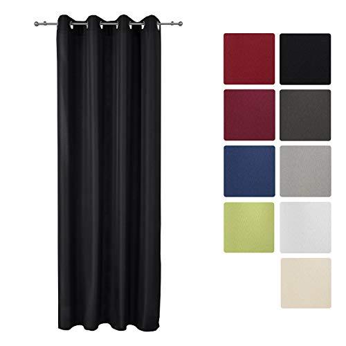 cortinas salon negras traslucidas