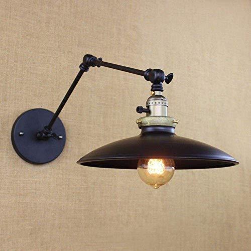 MEIXIAN Wandlamp Vintage Retro Countryside Black Wandlamp Long Arm Pole Swing Arm Wandlamp (Lampen niet inbegrepen) (Zwart) Eenvoudig Retro