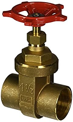 """Red-White Valve 112RW207AB Lead Free Commercial Gate Valve Solder, 1 1/2"""" from Standard Plumbing Supply"""