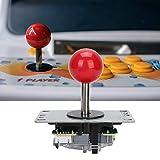 Cerlingwee Joystick de Juego Simple, práctico Accesorio de Joystick Rojo más Suave y Duradero, para Juego de Mesa codificador de Juegos de Lucha por computadora(Red)