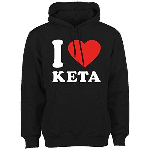 King of Shirts I Love Keta Hoody Medium Schwarz