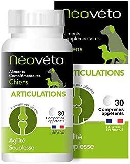 Néovéto ARTICULATIONS comprimés naturels pour Chiens souffrant d'arthrose à Base de glucosamine, chondroïtine, agréées par...