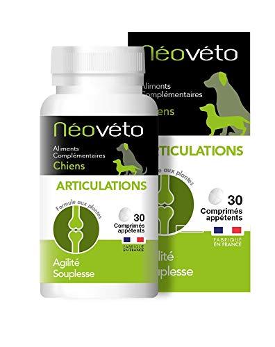 Néovéto ARTICULATIONS comprimés naturels pour Chiens souffrants d'arthrose à Base de glucosamine, chondroïtine, agréées par Les Services vétérinaires français, fabriqué en France
