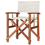 Casaria Directors Chair Foldable Wooden Garden Bistro Cafe Restaurant Patio Balcony Indoor Outdoor Furniture Seat Creme