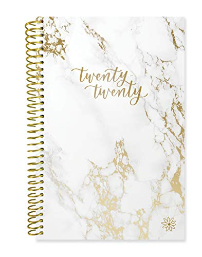 "bloom daily planners 2020 Calendar Year Day Planner (January 2020 - December 2020) - 6"" x 8.25"" - Weekly/Monthly Agenda Organizer Book with Tabs & Flexible Soft Cover - Marble"