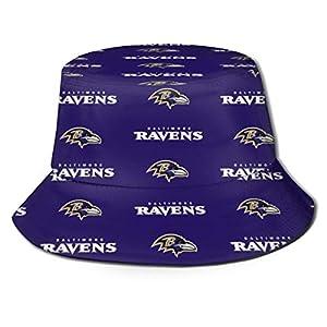 KAQ Baltimore Ravens Unisex Fisherman Hat Wide Brim Bucket Cap for Travel Sports